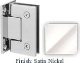 Satin Nickel Sis 787 Series with Square Edges Wall Mount Full Back Plate Hinge - SI787B_SN