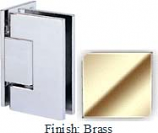Brass Sis 787 Series with Square Edges Wall Mount Offset Full Back Plate Hinge - SI787B-2_BR