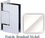 Brushed Nickel Sis 787 Series with Square Edges Wall Mount Offset Full Back Plate Hinge - SI787B-2_BN