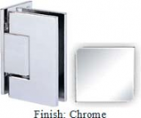Chrome Sis 787 Series with Square Edges Wall Mount Offset Full Back Plate Hinge - SI787B-2_CR