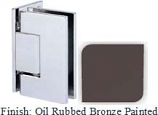 Oil Rubbed Bronze Painted Sis 787 Series with Square Edges Wall Mount Offset Full Back Plate Hinge - SI787B-2_ORB