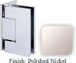 Polished Nickel Sis 787 Series with Square Edges Wall Mount Offset Full Back Plate Hinge - SI787B-2_PN