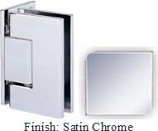 Satin Chrome Sis 787 Series with Square Edges Wall Mount Offset Full Back Plate Hinge - SI787B-2_SCR
