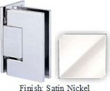 Satin Nickel Sis 787 Series with Square Edges Wall Mount Offset Full Back Plate Hinge - SI787B-2_SN