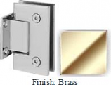 Brass Sis 787 Series with Square Edges Wall Mount Short Back Plate Hinge - SI787C_BR