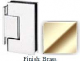 Brass Sis 787 Series with Square Edges Wall Mount Offset Short Back Plate Hinge - SI787C-2_BR