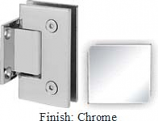 Chrome Sis 787 Series with Square Edges Wall Mount Short Back Plate Hinge - SI787C_CR