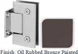 Oil Rubbed Bronze Painted Sis 787 Series with Square Edges Wall Mount Short Back Plate Hinge - SI787C_ORB