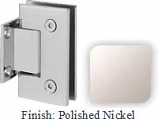Polished Nickel Sis 787 Series with Square Edges Wall Mount Short Back Plate Hinge - SI787C_PN