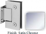 Satin Chrome Sis 787 Series with Square Edges Wall Mount Short Back Plate Hinge - SI787C_SCR
