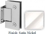 Satin Nickel Sis 787 Series with Square Edges Wall Mount Short Back Plate Hinge - SI787C_SN