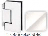 Brushed Nickel Sis 787 Series with Square Edges Wall Mount Offset Short Back Plate Hinge - SI787C-2_BN