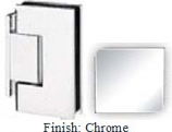 Chrome Sis 787 Series with Square Edges Wall Mount Offset Short Back Plate Hinge - SI787C-2_CR