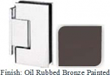 Oil Rubbed Bronze Painted Sis 787 Series with Square Edges Wall Mount Offset Short Back Plate Hinge - SI787C-2_ORB