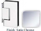 Satin Chrome Sis 787 Series with Square Edges Wall Mount Offset Short Back Plate Hinge - SI787C-2_SCR