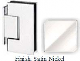 Satin Nickel Sis 787 Series with Square Edges Wall Mount Offset Short Back Plate Hinge - SI787C-2_SN
