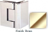 Brass Sis 787 Series with Square Edges 90 Degree Glass-To-Glass Hinge - SI787D_BR