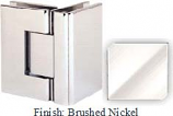 Brushed Nickel Sis 787 Series with Square Edges 90 Degree Glass-To-Glass Hinge - SI787D_BN