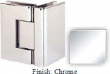 Chrome Sis 787 Series with Square Edges 90 Degree Glass-To-Glass Hinge - SI787D_CR