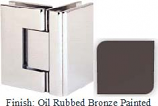 Oil Rubbed Bronze Painted Sis 787 Series with Square Edges 90 Degree Glass-To-Glass Hinge - SI787D_ORB