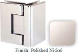 Polished Nickel Sis 787 Series with Square Edges 90 Degree Glass-To-Glass Hinge - SI787D_PN