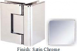 Satin Chrome Sis 787 Series with Square Edges 90 Degree Glass-To-Glass Hinge - SI787D_SCR