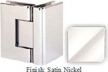 Satin Nickel Sis 787 Series with Square Edges 90 Degree Glass-To-Glass Hinge - SI787D_SN