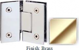 Brass Sis 787 Series with Square Edges 135 Degree Glass-To-Glass Hinge - SI787E_BR