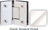Brushed Nickel Sis 787 Series with Square Edges 135 Degree Glass-To-Glass Hinge - SI787E_BN