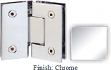 Chrome Sis 787 Series with Square Edges 135 Degree Glass-To-Glass Hinge - SI787E_CR