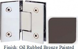 Oil Rubbed Bronze Painted Sis 787 Series with Square Edges 135 Degree Glass-To-Glass Hinge - SI787E_ORB