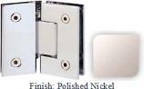Polished Nickel Sis 787 Series with Square Edges 135 Degree Glass-To-Glass Hinge - SI787E_PN