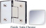 Satin Chrome Sis 787 Series with Square Edges 135 Degree Glass-To-Glass Hinge - SI787E_SCR
