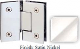 Satin Nickel Sis 787 Series with Square Edges 135 Degree Glass-To-Glass Hinge - SI787E_SN