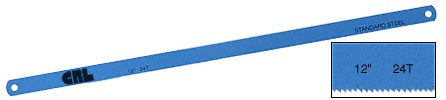 12 inch Standard Alloy 24 Tooth Steel Hacksaw Blade - CRL SL1224