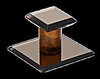 "CRL Bronze Acrylic Stick-On Small Mirror Pull - 1-3/4"" Square CRL SMPB4"