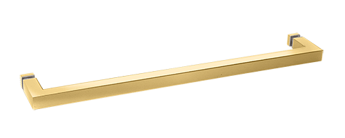 "CRL Polished Brass ""SQ"" Series 18"" Square Tubing Mitered Corner Single-Sided Towel Bar CRL SQ18BR"
