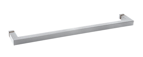 "CRL Brushed Satin Chrome ""SQ"" Series 18"" Square Tubing Mitered Corner Single-Sided Towel Bar CRL SQ18BSC"