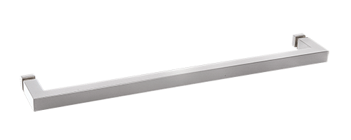 "CRL Polished Chrome ""SQ"" Series 18"" Square Tubing Mitered Corner Single-Sided Towel Bar CRL SQ18CH"