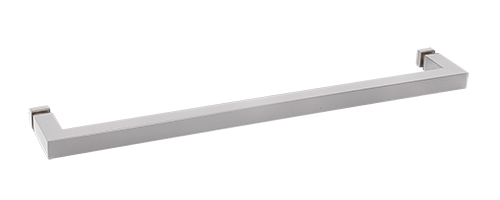 "CRL Satin Chrome ""SQ"" Series 18"" Square Tubing Mitered Corner Single-Sided Towel Bar CRL SQ18SC"