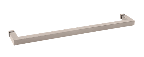 "CRL Satin Nickel ""SQ"" Series 18"" Square Tubing Mitered Corner Single-Sided Towel Bar CRL SQ18SN"
