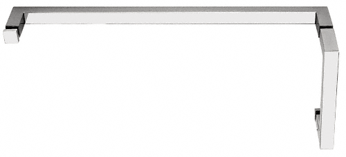 "CRL Polished Chrome ""SQ"" Series Combination 6"" Pull Handle 18"" Towel Bar CRL SQ6X18CH"