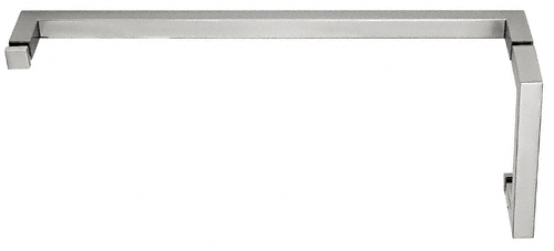 "CRL Satin Chrome ""SQ"" Series Combination 6"" Pull Handle 18"" Towel Bar CRL SQ6X18SC"