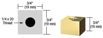 "CRL Brass 3/4"" Square Standoff Base 3/4"" Long CRL SQ7575BR"