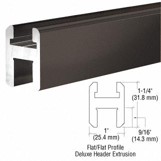 "CRL Oil Rubbed Bronze Flat/Flat Profile Deluxe Shower Door Header Kit - 95"" CRL SQH9800RB"