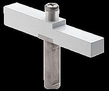 CRL White Adaptor Block Used with Senior Prima Hinges CRL SRHAB01W
