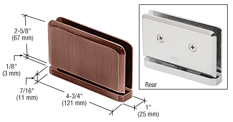 CRL Antique Brushed Copper Senior Prima 01 Series Top or Bottom Mount Hinge CRL SRPPH01ABC0
