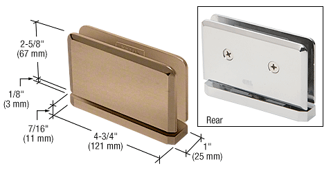 CRL Brushed Bronze Senior Prima 01 Series Top or Bottom Mount Hinge CRL SRPPH01BBRZ