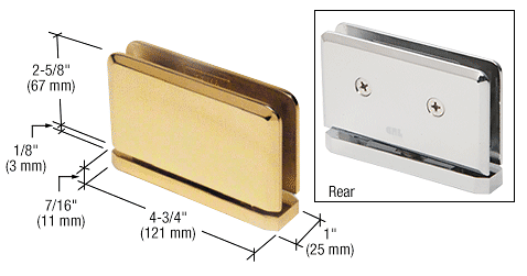 CRL Unlacquered Brass Senior Prima 01 Series Top or Bottom Mount Hinge CRL SRPPH01ULBR