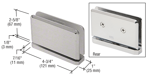 CRL Brushed Satin Chrome Senior Prima 01 Series Top or Bottom Mount Hinge CRL SRPPH01BSC
